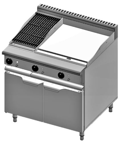 B+S Verro VBT-GRP6-CGR3 Combination 600mm Grill Plate & 300mm Char Grill