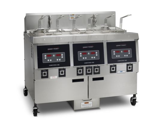 Henny Penny OFE323/1000 Split/Split/Split Electric Split/Split/Split Double Well Open Fryer With 1000 Computron Controls
