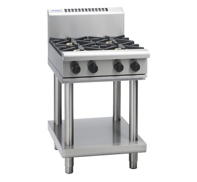Waldorf 800 Series 600mm Gas Cooktop  Leg Stand with 2 Burners and 300mm Griddle Plate