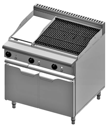 B+S Verro VBT-GRP3-CGR6 Combination 300mm Grill Plate & 600mm Char Grill