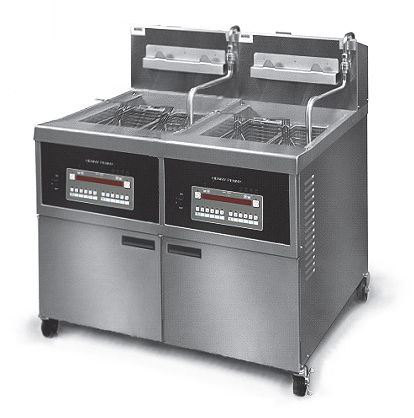 Henny Penny OFE342/8000 Full Electric Full Double Well Open Well Fryer With 8000 Computron Controls