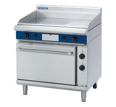 Blue Seal Evolution Series 900mm Gas Griddle Electric Static Oven Range