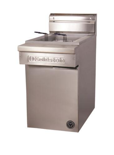 Goldstein FRG1L 800 Series Gas Fryer Flat Bottom, Single Pan Gas Fryer - 2 Basket
