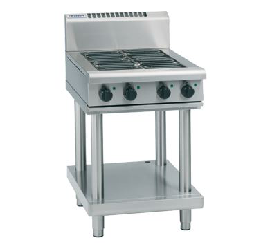 Waldorf 800 Series 600mm Electric Cooktop Low Back Version  Leg Stand