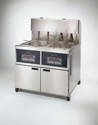 Henny Penny OGA342/8000 Full Gas Full Double Well Open Fryer With 8000 Computron Controls & Auto Lift