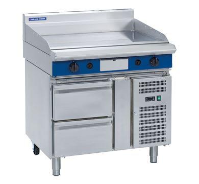 Blue Seal Evolution Series 900mm Gas Griddle  Refrigerated Base