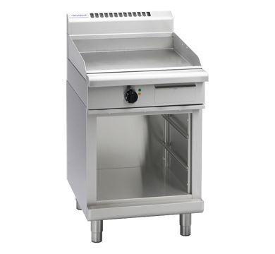 Waldorf 800 Series 600mm Electric Griddle Low Back Version - Cabinet Base