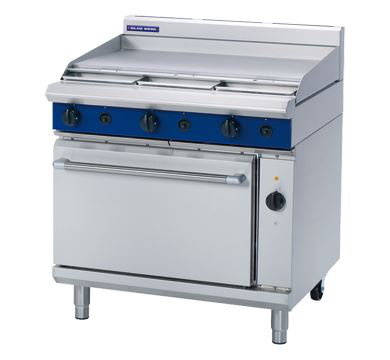 Blue Seal Evolution Series 900mm Gas Range Electric Convection Oven with 900mm Griddle Plate