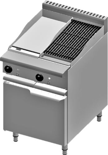 B+S Verro VBT-GRP3-CGR3 Combination 300mm Grill Plate & 300mm Char Grill