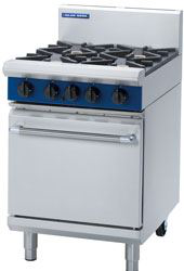Blue Seal Evolution Series 600mm Gas Range Static Oven with 2 Burners and 300mm Griddle Plate