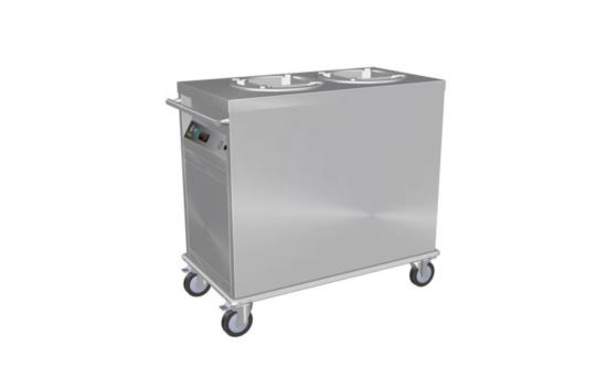 Culinaire CH.PD.HS.2 Dual Tube Mobile Plate Dispensers with Static Heating