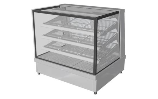 Culinaire CH.FDSQ.D.0900 900mm wide Drop-In Square Glass Profile Heated Food Display