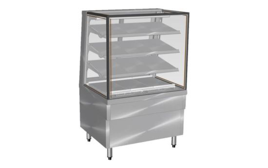 Culinaire CA.FDSQ.F.1200 1200mm wide Freestanding Square Glass Profile Ambient Food Display