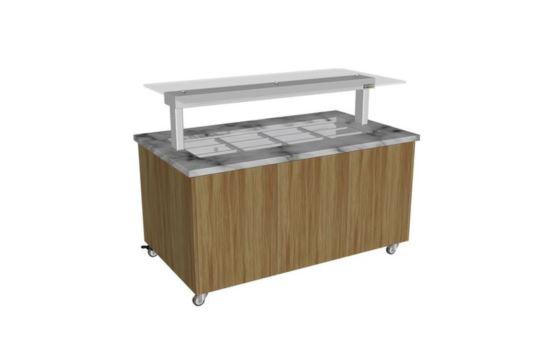 Culinaire CH.IBGJ.BMC.U.GSF.3 Three Module Stone Top and Joinery Panels Mobile Heated Island Buffet
