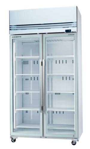White Double Glass Door Freezer