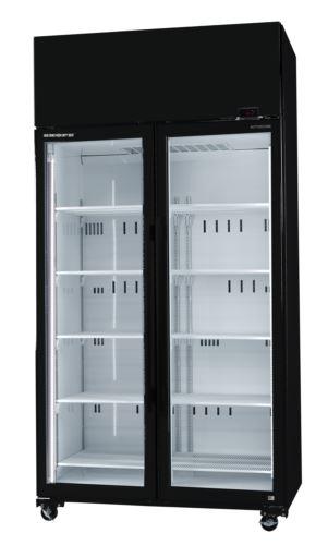 Black Active Core 2 Glass Door Fridge