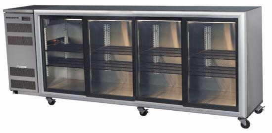 Skope BB780 4SL-S Stainless Steel Backbar Fridge Four Sliding Doors