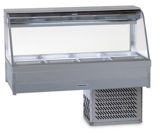 Roband CRX24RD Curved Glass Refrigerated Display Bar 8 Pans