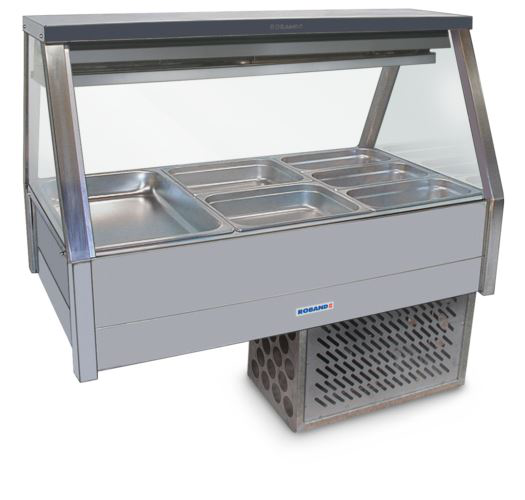 Roband ERX23RD Straight Glass Refrigerated Display Bar 6 pans