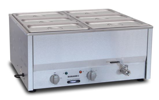 Roband BM4B Counter Top Bain Marie 6 x 1/3 Size 100mm Pans