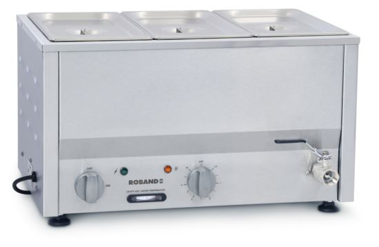 Roband BM2C Counter Top Bain Marie 3 x 1/3 Size 150mm Pans