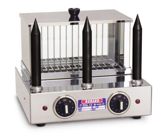 Roband M3T Hot Dog and Bun Warmer with 3 Teflon Bun Warming Spikes