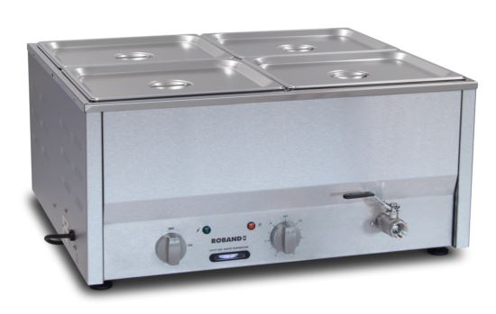 Roband BM4A Counter Top Bain Marie 4 x 1/2 Size 100mm Pans