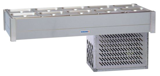 Roband BR25 Refrigerated Bain Marie 10 x 1/2 Size Pans - Double Row