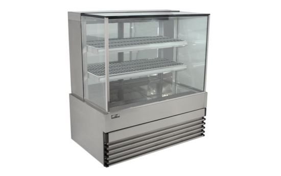 Koldtech KT.SQHCD.9 Heated Square Glass Display Cabinet 900mm