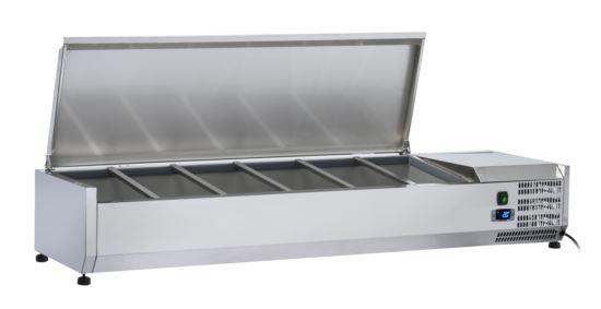 Saltas VRX1500S Refrigerated Countertop Ingredient Well S/S Lid