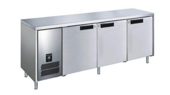 Glacian BCS61885 3 Solid Door Slimline Underbar Fridge