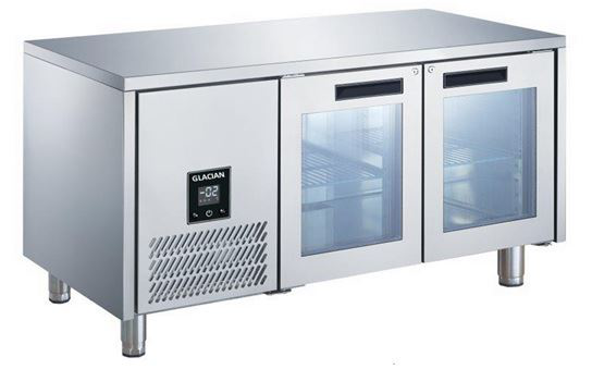 Glacian BCG71815 2 Glass Door Underbar Fridge