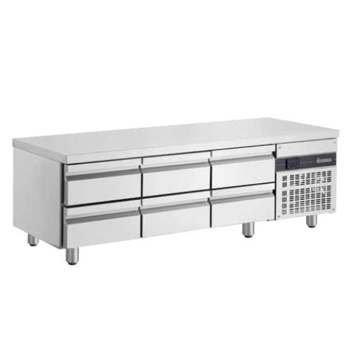 Inomak UBI71790LB Low Boy 6 Drawer Underbench Fridge