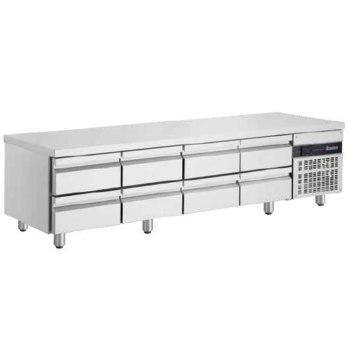 Inomak UBI72240LB Low Boy 8 Drawer Underbench Fridge