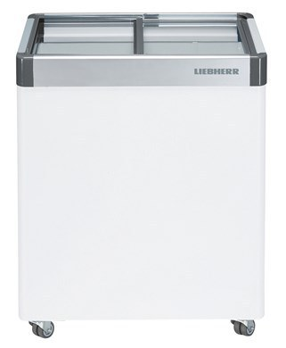 Flat Glass Slide Lid Chest Freezer 108L