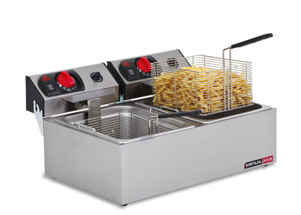 Anvil-Axis FFA0002 Double Pan Bench Top Deep Fryer