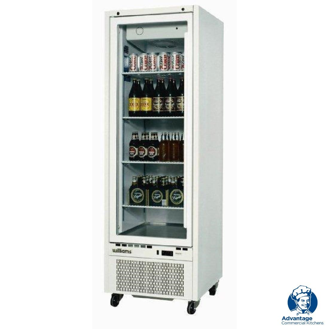 Williams HQ14GDCB Upright Single Glass Door Fridge