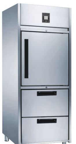 Advantage Platinum 1 x 1/2 Solid Door and 2 Drawer Upright Freezer