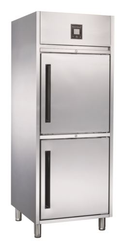 Advantage Platinum 2 x 1/2 Solid Door Upright Fridge