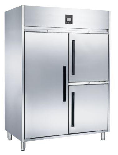 Advantage Platinum 1 x Full Solid Door and 2 x 1/2 Solid Doors Upright Fridge