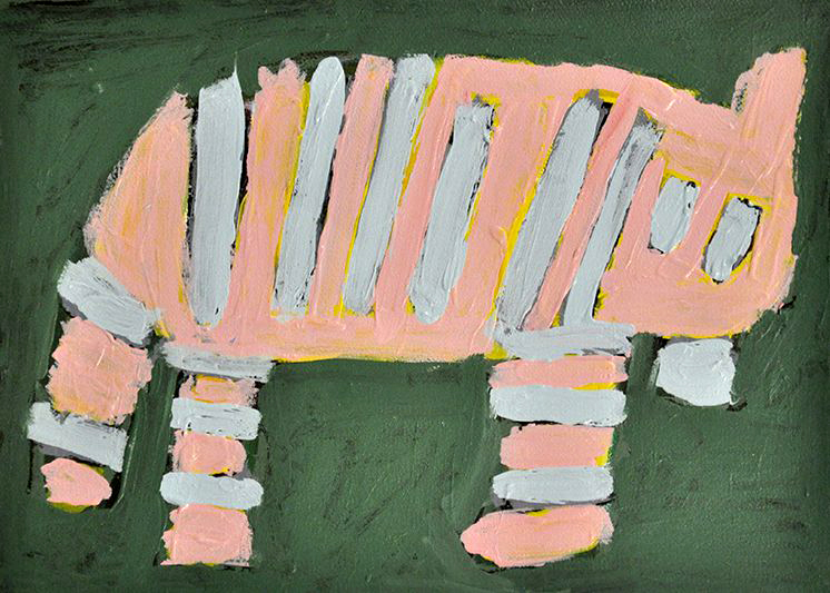 RUTH HOWARD, NOT TITLED, 2015, ACRYLIC ON PAPER, 28 X 38 CM, RH15-0009