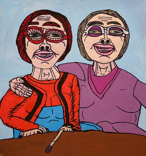 Cathy Staughton Cathy Staughton, Catherine Bell, 2010, work on paper, 40 x 38 cm.