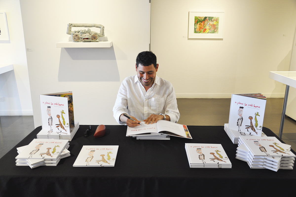 Artist Joseph Power launching his book 'A Place to Call Home'.