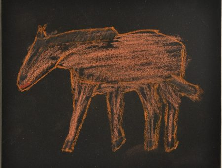 Brown Horse, 2015, pastel on paper, 14 x 17 cm BH15-0003