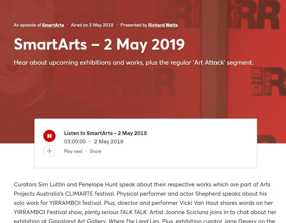 TRIPLE R SMARTARTS: CLIMARTE Exhibition | 2019