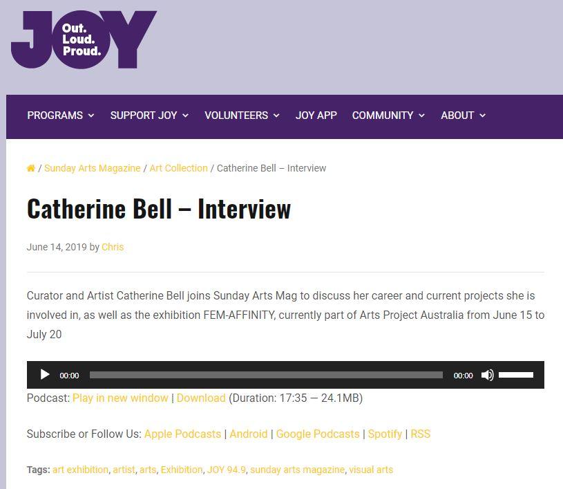 JOY FM: FEM-aFFINITY Exhibition Interview | 2019