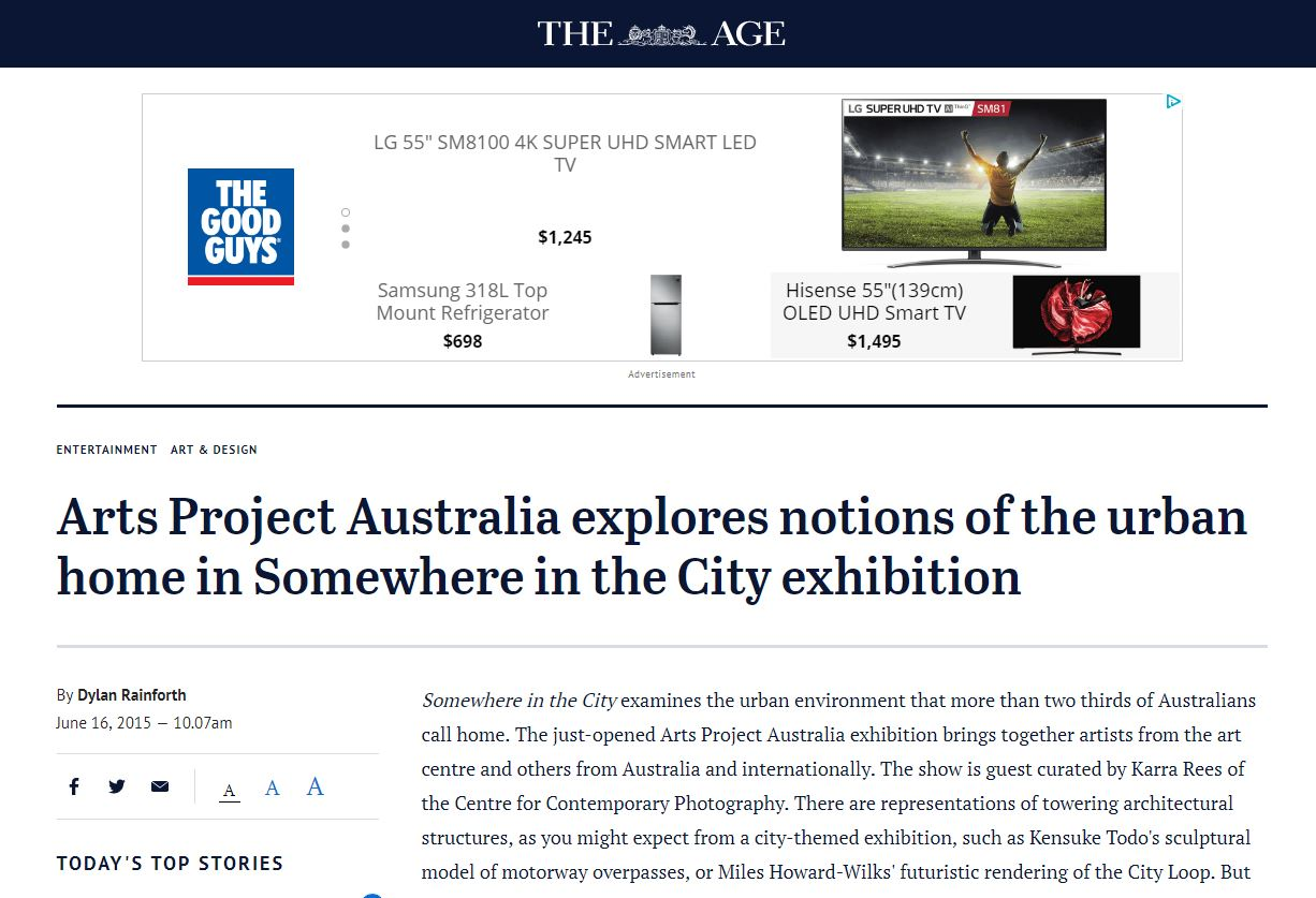 THE AGE: Somewhere in the City Exhibition Feature | 2015
