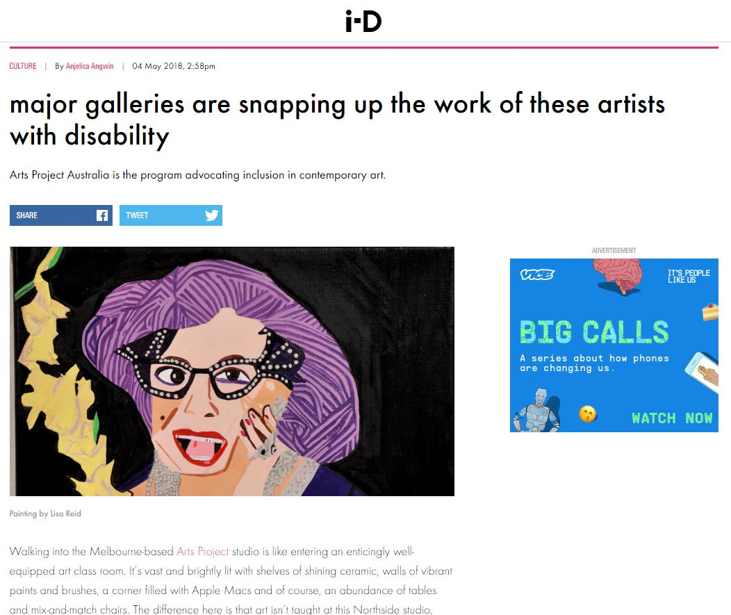 VICE i-D: Major galleries are snapping up the work of these artists | 2018