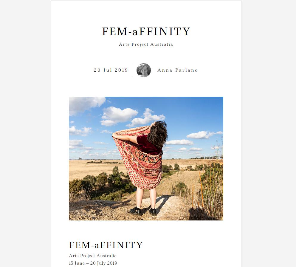 MEMO REVIEW: FEM-aFFINITY I 2019