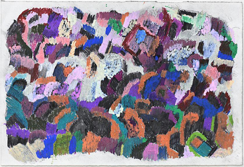 Alvaro Alvarez Not titled 2018 fine liner, greylead pencil, paint pen, colour pencil on paper 38 x 56 cm AA18-0013